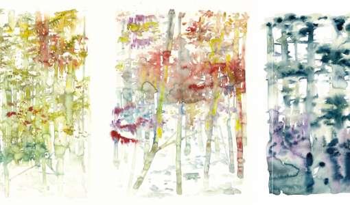 Der imaginäre Wald – Aquarellmalerei zwischen Figürlichkeit und Abstraktion