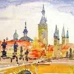 Sommerakademie Würzburg, Fotokurse, Fotoworkshops, Malreisen, Malkurse, Stadt, malen, zeichnen